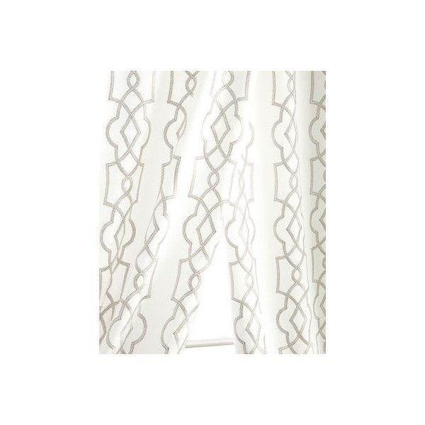 Softline Home Fashions 55W x 108L Tipton Curtain (£195) ❤ liked on Polyvore featuring home, home decor, window treatments, curtains, silver, rod pocket curtains, lining curtains and softline home fashions