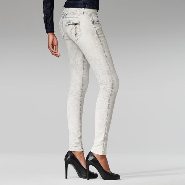 G-Star RAW-Midge Cody Skinny Coloured Jeans-Women-Colour jeans PORCELAIN $250