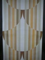 bruin beige oranje verticale lijnen met geometrische figuur