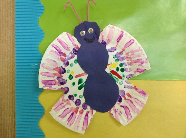 Paper plate butterfly, K-1st summer camp 2013