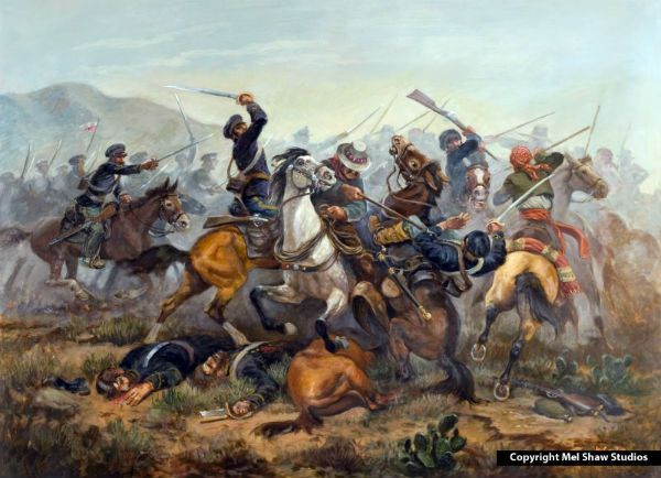 The Battle of San Pasqual was a military encounter that occurred during the Mexican-American War in what is now the San Pasqual Valley community of the city of San Diego, California. On December 6 and December 7, 1846, the Californios, and their Presidial Lancers, led by General Don Andres Pico, (1810-1876), defeated Stephen W. Kearny´s US Army column of 150 men.