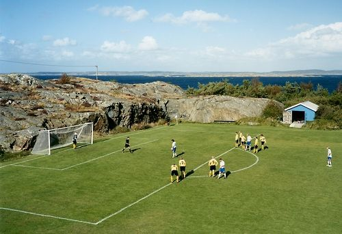 soccer - Gorgeous European soccer field