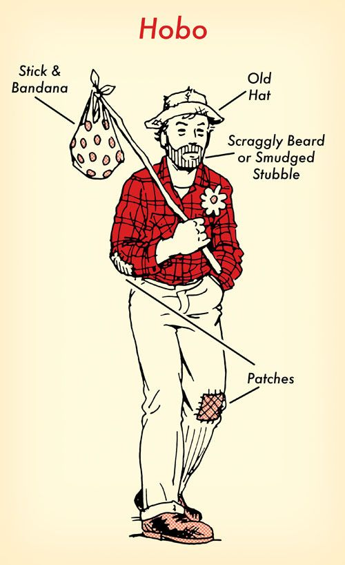 1 Flannel Shirt, 7 Halloween Costumes: #6 Hobo