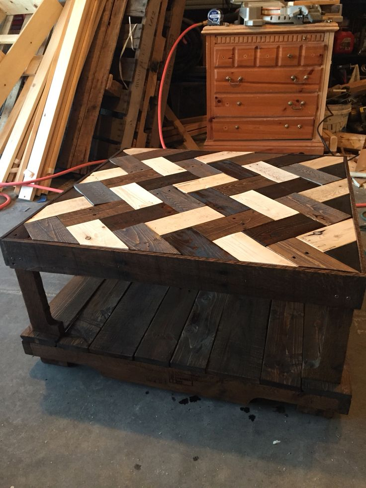 Herringbone Pallet Coffee Table