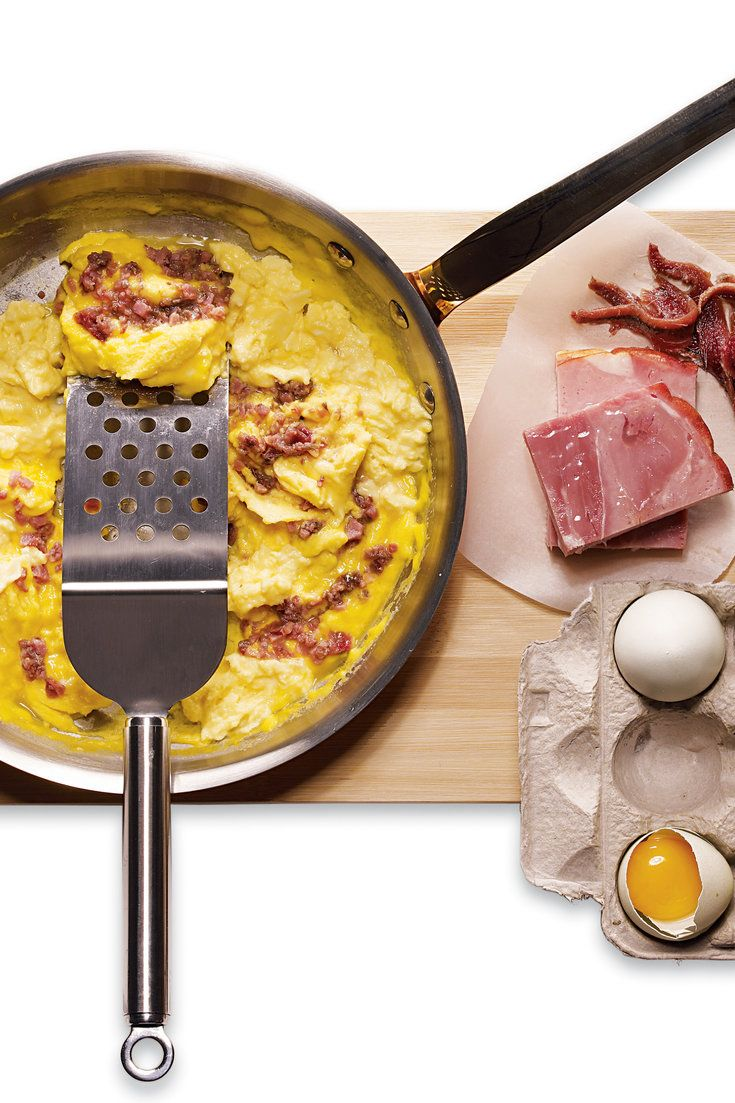 how to make good scrambled eggs with ham