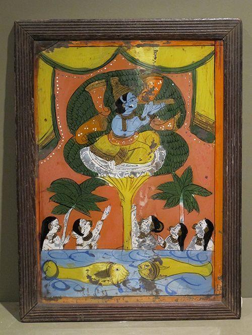 Vastrapaharan, Maharashtra reverse glass painting.