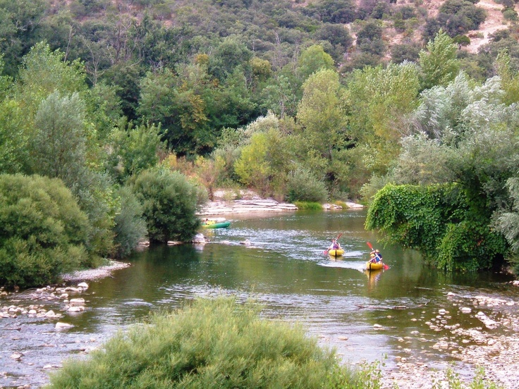 Canoeing on the Herault River