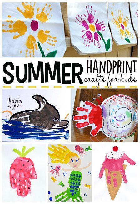 Summer Handprint Crafts for Kids to Make - Crafty Morning