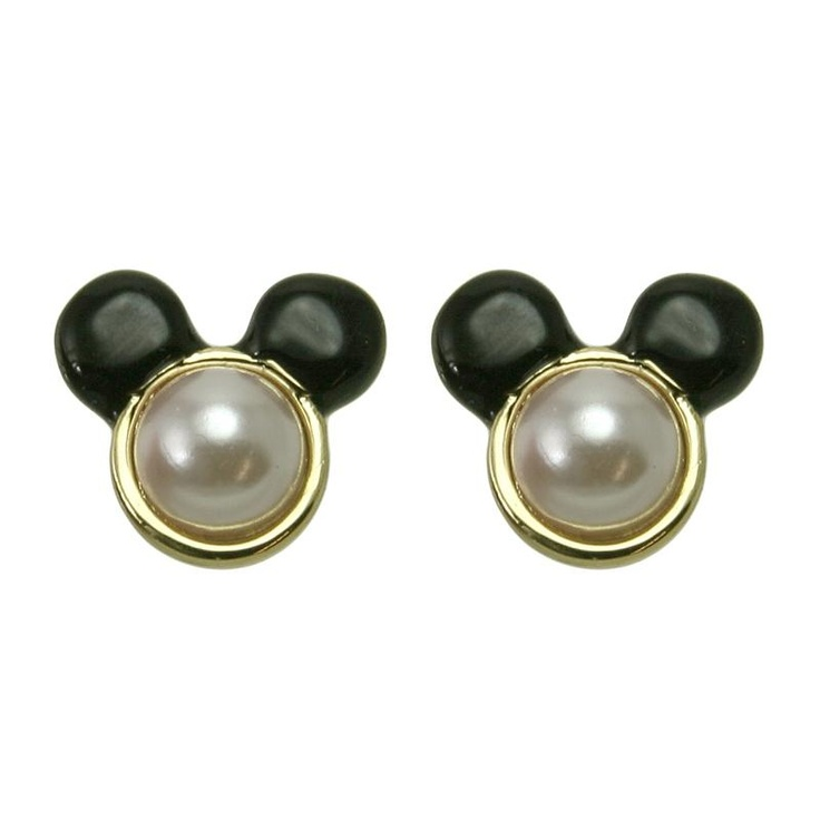 Mawi for Disney Couture Minnie Pearl Stud Earrings at aquaruby.com
