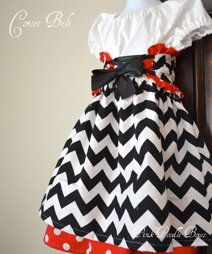 Easy Sewing Pattern Girls dress Pillowcase dress Beginner PDF Sewing Patterns : Free Tutorial, Pirate Corset Belt