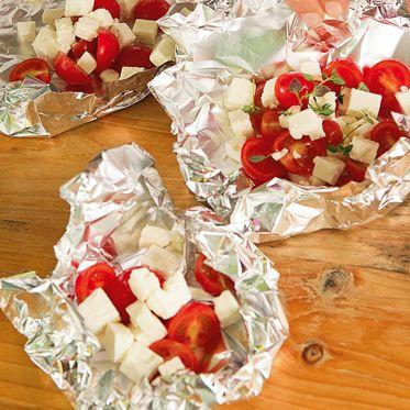 Tomaten-Käse-Päckchen