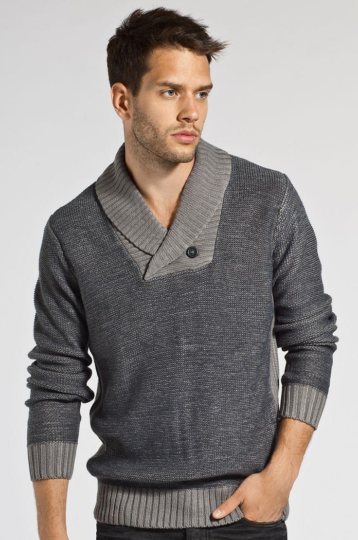Blend - Sweter z guzikiem