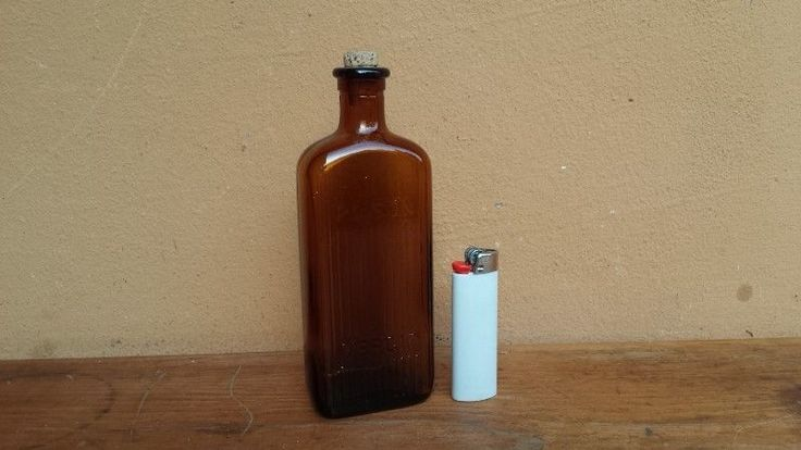 Brown glass poison bottle. | Benoni | Gumtree Classifieds South Africa | 187271215