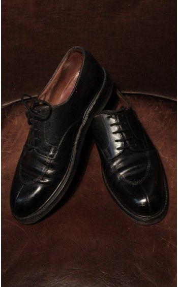 Chaussures Weston 598 Derby demi-chasse Noir T41 #cirage #glacage #patine #souliers #cuir #elegance #homme #gentleman #vestiaire #occasion #monsieurpapillon #boutique