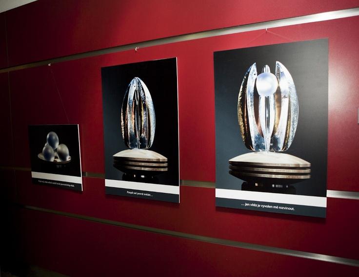 Výstava fotografií Flory florbal na Superfinále 2013 v O2 aréně.