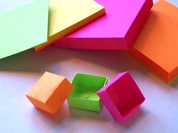 Post It Origami Boxes Cute Origami Origami Box Crafts