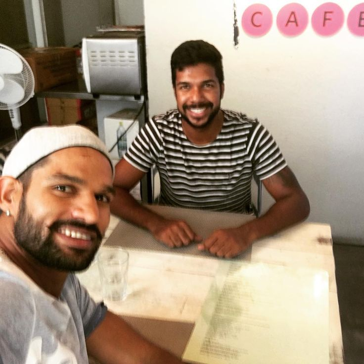 Enjoyed having lunch with @varunaaron77 . Our talks about home stuff!! Lol