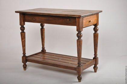 Мебель ручной работы. Ярмарка Мастеров - ручная работа. Купить Стол - консоль в деревенском стиле. Handmade. Стол, старинный стол
