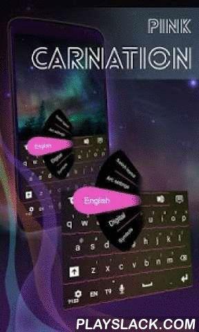 """Pink Carnation Keyboard  Android App - playslack.com ,  Ons creatieve team heeft een speciale traktatie voor al je mooie dames die er zijn : Roze Anjer TOETSENBORD ! DOWNLOAD Roze Anjer Keyboard NU en maak uw telefoon de chicste accessoire kunt u zich met deze elegante combinatie van zwarte en roze !- Voor de installatie , voert u de volgende 3 eenvoudige stappen: Openen na downloaden , drukt u op """"Instellen als Active Theme"""" en selecteer het thema van de volgende pagina !- Het mooie HD…"""