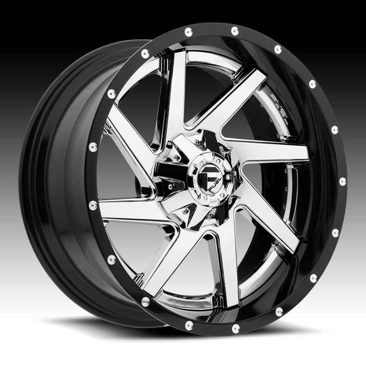 Fuel D263 Renegade 2-PC Chrome / Gloss Black Custom Truck Wheels Rims - Fuel - 2PC
