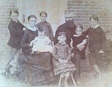 The Leveridge family in England 1880. Photo courtesy of Richard Trounce.