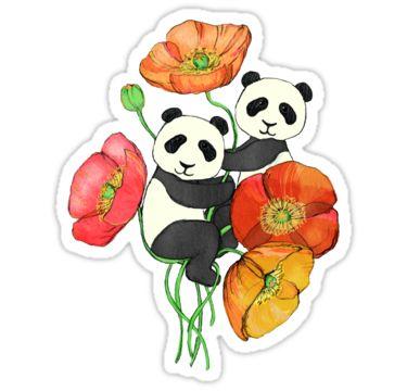 Poppies & Pandas by micklyn