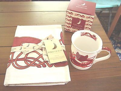 Celtic Cat Mug & Tea Towel Set, Wild Goose Studio, Ireland