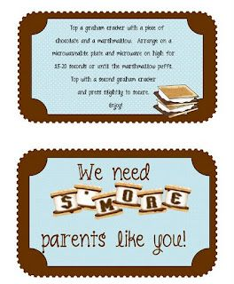 Cute saying on gift for parent volunteers... Could also change it to say we need s'more teachers like you and adapt to a teacher gift.