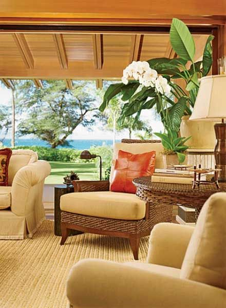 Traditional Living Room By Ron Wilson And Joe Guidera Ike Kligerman Barkley In Maui Hawaii