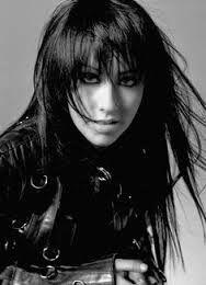 Image result for christina aguilera black  hair