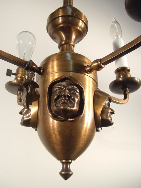 81 best lighting history arts crafts images on pinterest arts crafts monk head light fixture mozeypictures Image collections