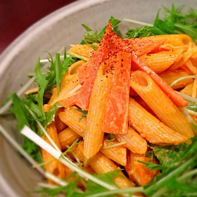 SDを始めてコチュジャン+マヨネーズの美味しさを知りました 同じマヨネーズのサラダでも目先が変わっていいですね!程よいピリ辛でした  ゆりえさん、ごちそうさまでした! - 110件のもぐもぐ - ゆりえさんの料理 韓国風マカロニサラダ by happyhana