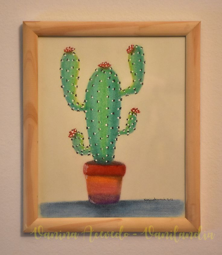 Cuadro Cactus Titulo: Cardon Medidas 25x30cm A la Venta!