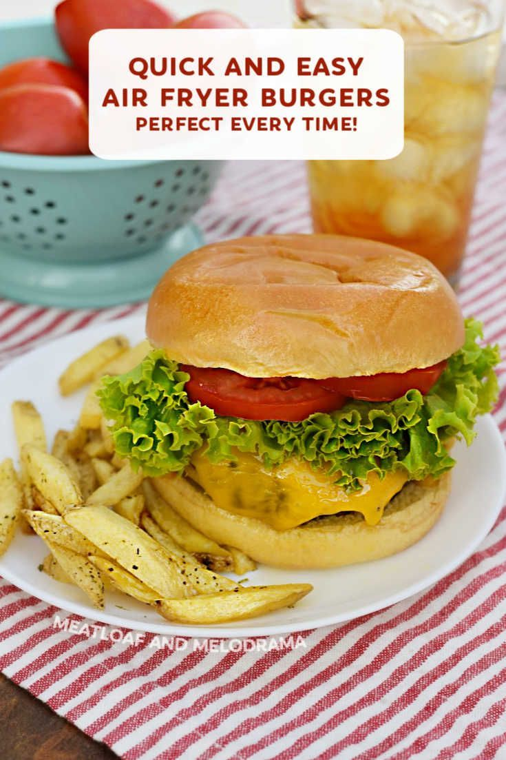 Air Fryer Hamburgers Meatloaf and Melodrama Recipe in