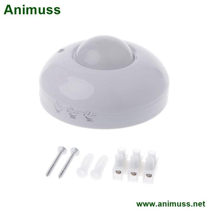 110V-240V Adjustable Security Automatic LED Ceiling Infrared Body PIR Motion Sensor Detector Light Switch