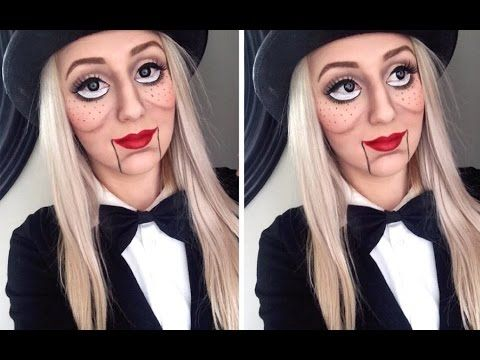 Ventriloquist Doll Makeup Tutorial ♡ Large Doll Eyes Tutorial