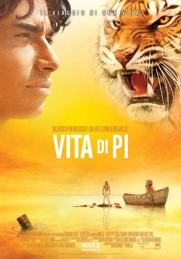 Vita di Pi - La storia è incentrata su un ragazzo di 16 anni che attraversa l'Oceano Pacifico sognando una nuova vita americana. Ma quando la nave su cui si trova fa naufragio, viene lasciato su una zattera con un orango, una iena e una tigre del Bengala...