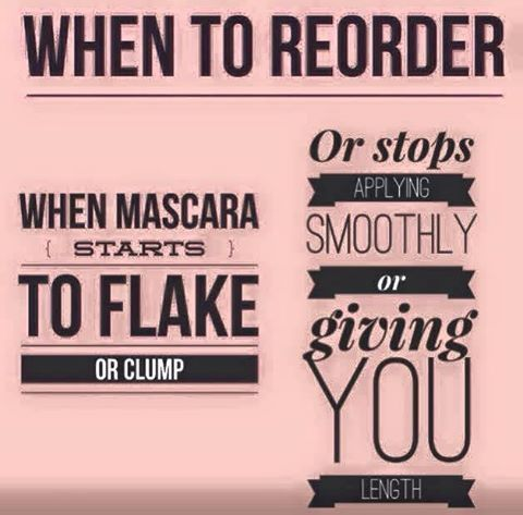 When to reorder your Younique mascara.  A good rule of thumb is every 2-3 months but you can also tell when your mascara starts to flake or does not go on smoothly. #youniquemascara https://www.youniqueproducts.com/lashestothemax/products/view/US-11101-02#.VbGY7PljpaY