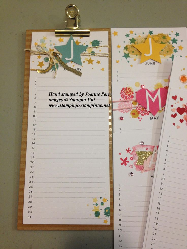 Stampin Up Calendar Ideas : Best stampin up perpetual calendar images on