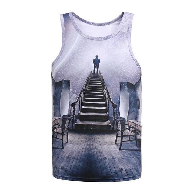 Mr.1991INC New Arrival Men/women 3d Tank tops summer cool vest Funny print eating pizza cat space galaxy tees shirts 17models
