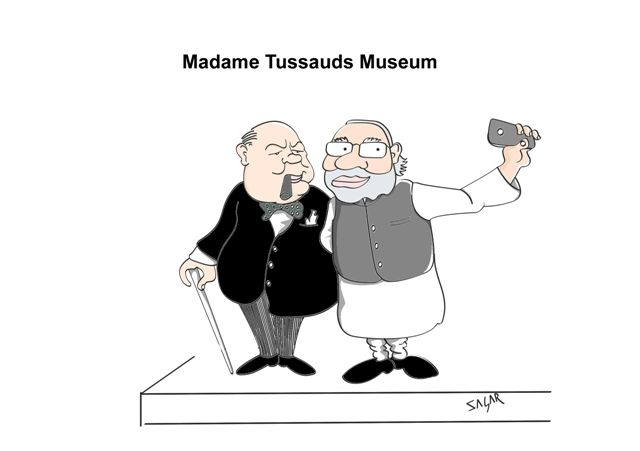 Narendra Modi enters madame tussauds