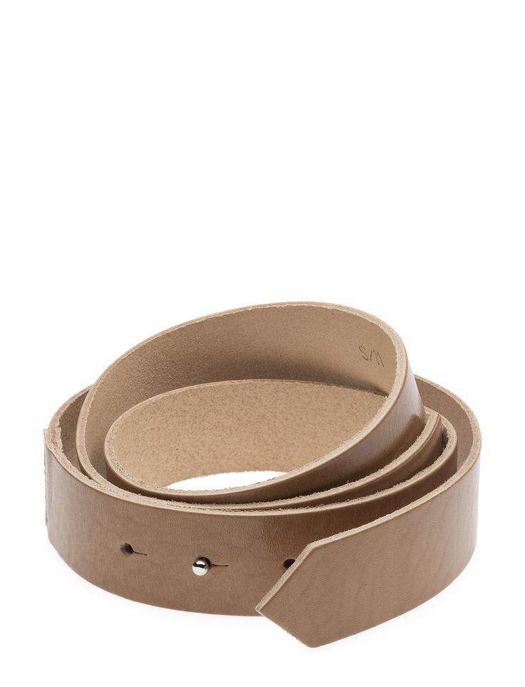 DAY - 2ND Knot Press stud detail Made from leather Classic Simple Sophisticated Made from high quality leather that becomes more beautiful with  Belt Nude Tan