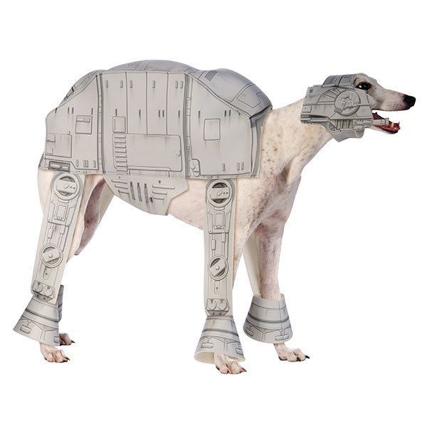 An Imperial Walker costume for a dog.