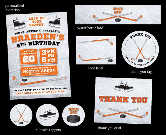 The 25 best Hockey birthday ideas – Hockey Birthday Party Invitations