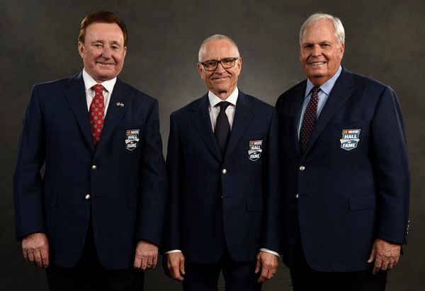 NASCAR Hall of Fame inductees (L-R)Richard Childress, Mark Martin, and Rick Hendrick pose for a portrait prior to the NASCAR Hall of Fame Class of 2017 Induction Ceremony at NASCAR Hall of Fame on January 20, 2017 in Charlotte, North Carolina.