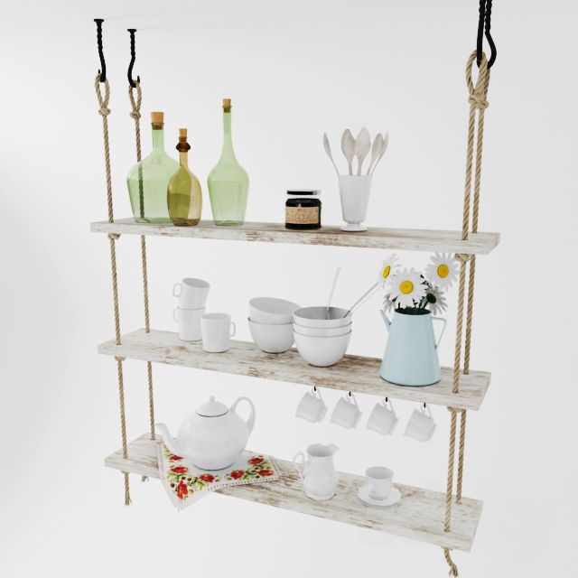 suspended shelf