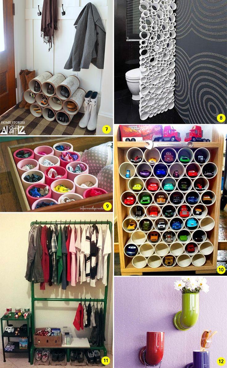 24 ideias para decorar e organizar a casa usando canos de PVC