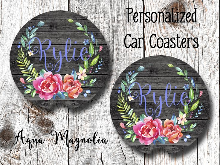 """Thanks for the kind words! ★★★★★ """"Absolutely LOVE my his and hers coasters!!! I love how she sent me a proof shot before making them because I was unsure of the grey font. I highly recommend this shop!!!!!"""" Susan J. http://etsy.me/2DrCPuZ #etsy #carcoasters"""