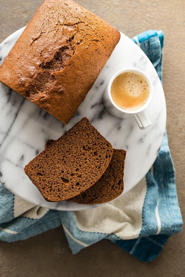 Sticky Gingerbread Loaf Cake via @foodnessg
