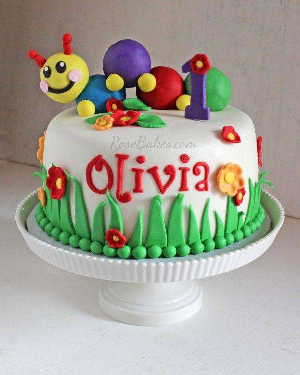 Baby Einstein 1st Birthday Cake | http://rosebakes.com/baby-einstein-1st-birthday-cake/